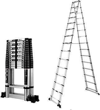 LWW Escalera, escalera de extensión, aluminio espiga General Perfil gruesa plegable, multi-función de elevación, Ingeniería Escalera para el hogar, al aire libre,escalera-5m de espiga + 5m: Amazon.es: Bricolaje y herramientas