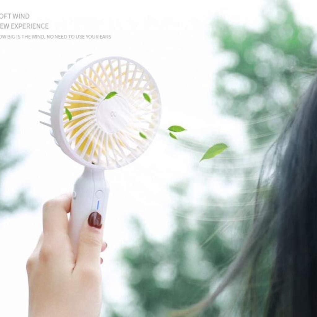 MXD Usb handheld ventilator met basis voor alle soorten scènes met behulp van 4 blad ventilator comfort sterke wind (kleur: wit) Kleur: wit g4O4oc3f