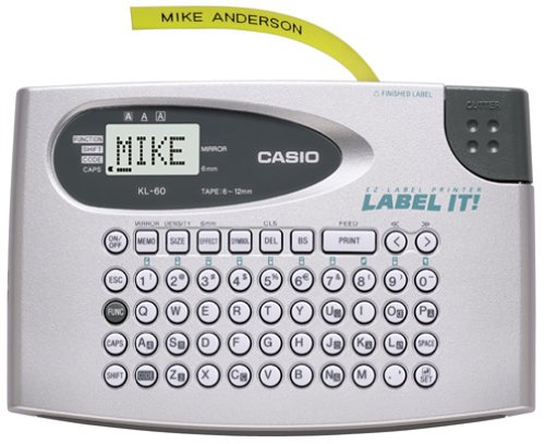Casio KL-60SR Compact Label Printer (Casio Printer Keyboard)