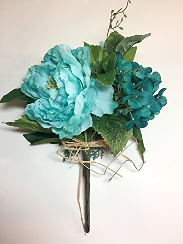 Multi-Toned-Teal-Icy-Mint-Bouquet-with-Dahlia-Rose-Peony-Phlox-Bride-Vase-Arrangement-Tabletop-DIY-Projects-Outdoor-Decor-Patio-Porch-Business-Displays-Gifts-Wreaths-Home-Staging