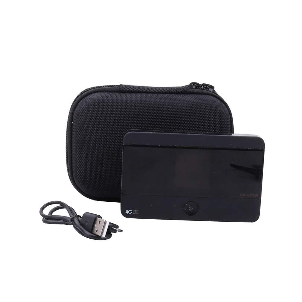 Viaggio Borsa Custodia Rigida per TP-LINK M7350 V4 4G LTE Mobile WiFi Router Mi-Fi Hotspot Portatile di Aenllosi