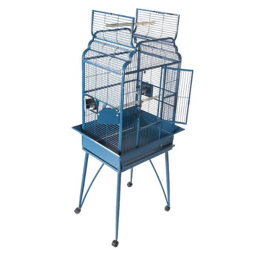 A&E Cage B-2217 Black Victorian Open Top Bird Cage, 22'' x 17'' by A&E Cage
