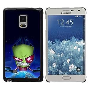 Be Good Phone Accessory // Dura Cáscara cubierta Protectora Caso Carcasa Funda de Protección para Samsung Galaxy Mega 5.8 9150 9152 // Funny Evil Space Alien