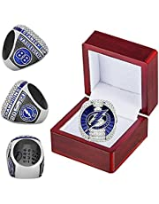 2021 Tampa'Bay 'Lightning Championship Ring with Wooden Box No. 88 Replica Official Series Stanley'Cup Ice Hockey Champions Rings Collection Souvenirs Gift for Fans Men Kids Father