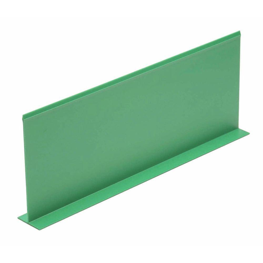Produce Divider Green Plastic T Shape Shelf Divider - 18
