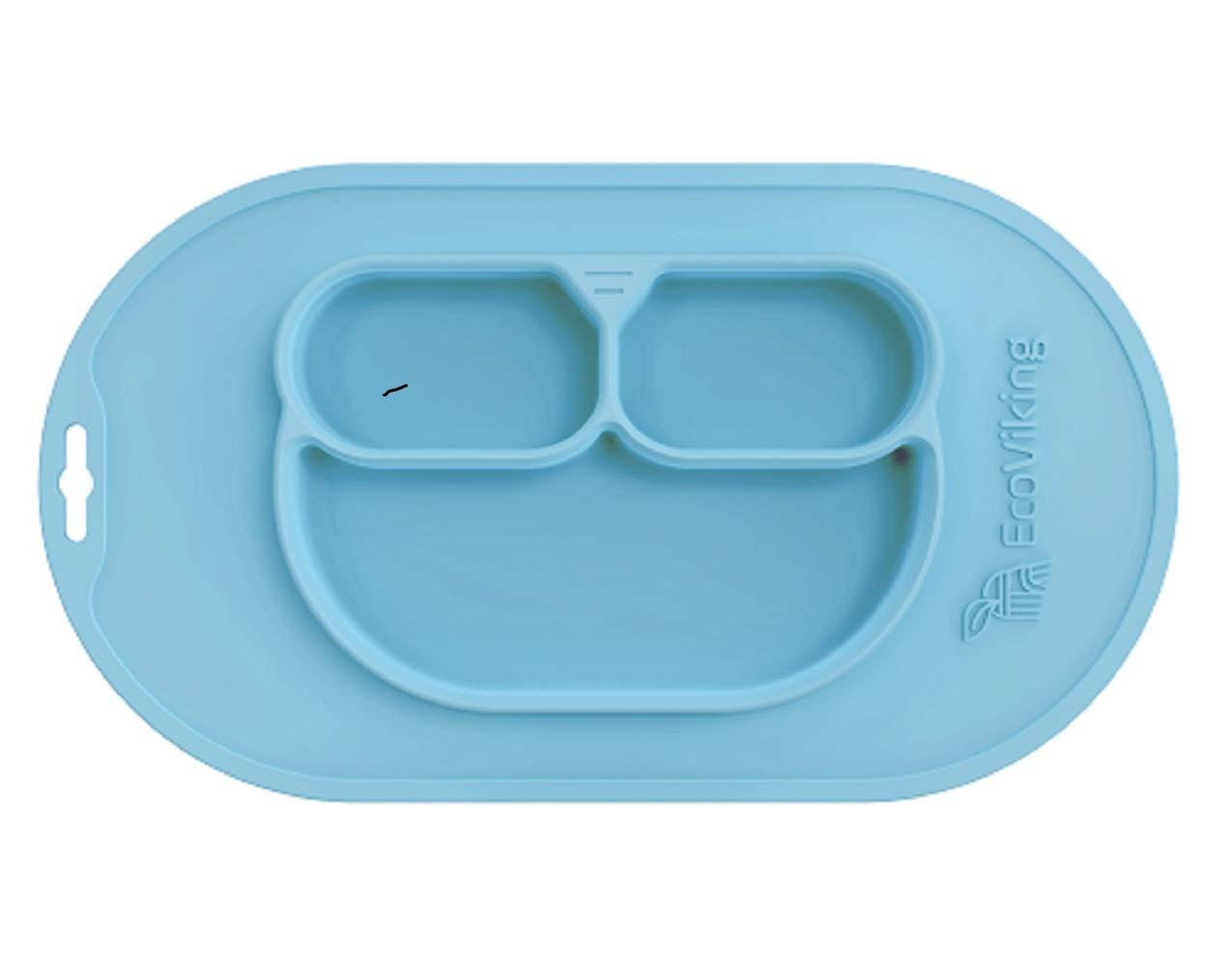 color azul EcoViking EV0100 Bandeja de silicona con accesorios