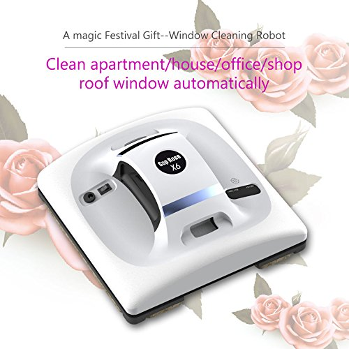 [Best sellers on amazon robotic Cop Rose X6 Window Cleaning Robot automatic vacuum battery shower cleaner washer machine magnetic electric glass washing equipment professional magnit tools] (Glass Electric Shower)