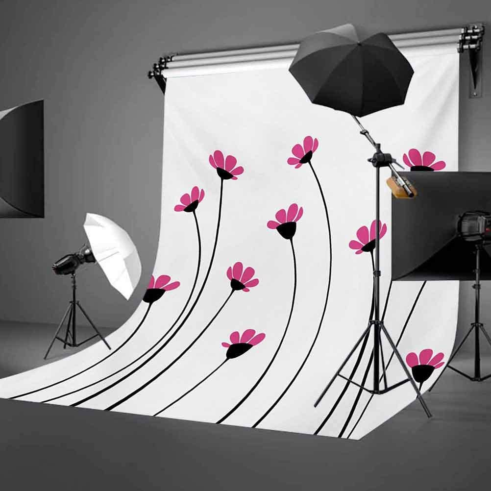 Garden 10x12 FT Photo Backdrops,Pink Daisy Blossoms Flowery Field Meadow Inspired Romantic Scenic Nature Print Background for Photography Kids Adult Photo Booth Video Shoot Vinyl Studio Props