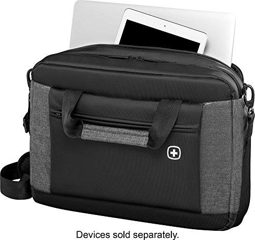 SwissGear Wenger Underground Messenger Briefcase With 16'' Laptop Pocket Black-Grey by Wenger (Image #1)