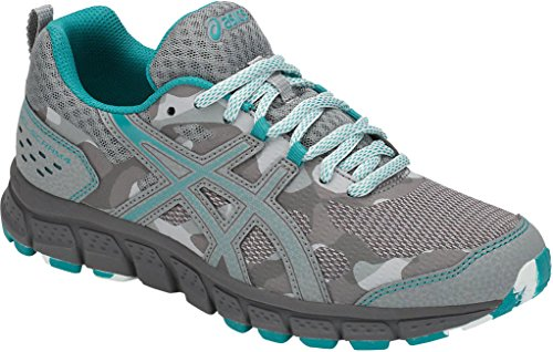 ASICS 1012A039 Women's Gel-Scram 4 Running Shoe, Mid Grey/Lagoon - 5.5 B(M) US by ASICS (Image #1)