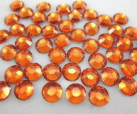 Quality Rhinestone - LOVEKITTY --- Orange -- 1440pc Flat Back High Quality Rhinestones Round 14 Cut 3mm (10ss)--- by lovekitty