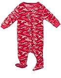 Leveret Fleece Footed Sleeper Camoflauge Pink 6-12
