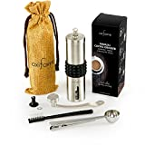 Manual Coffee Grinder | Portable Hand Grinder with Ceramic Burr,...