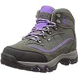 Hi-Tec Women's Skamania Mid Waterproof Hiking Boot, Grey/Viola,10 M US