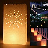 30pz Carta Artigianale Borse Sacchetti per Candele Diffusione Luce Porta candela Lanterna