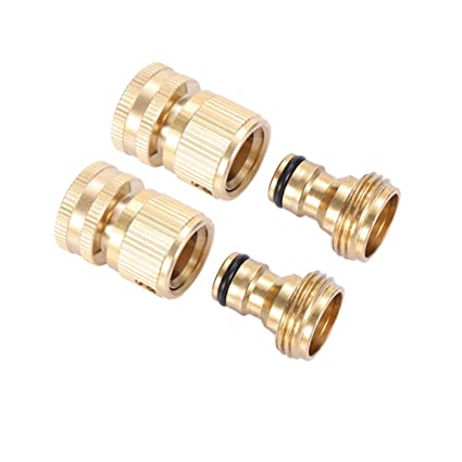 Brass Garden Hose Quick Connector Brass Quick Hose End Connector Garden Hose  Nozzle Connect Kit,