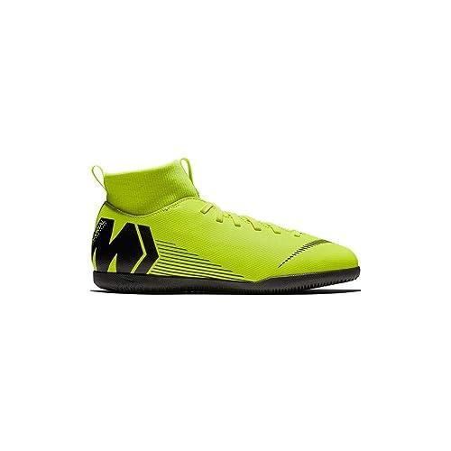 Nike Botas de Fútbol Sala Mercurial Superfly Series Suela Lisa Amarillo Fluor/Negro Niño: Amazon.es: Zapatos y complementos