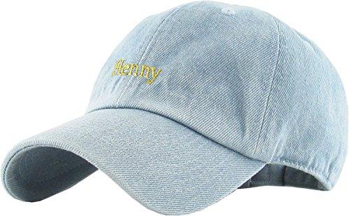 KBSV-018 LDM Henny Dad Hat Baseball Cap Polo Style Adjustable