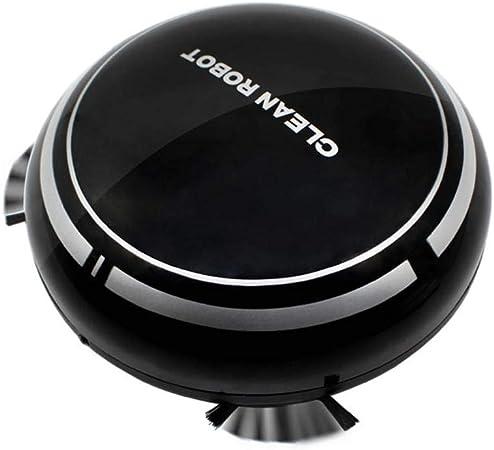 Everpert Robot Aspirador y Fregasuelos, USB Recargable Inteligente Inducción Hogar Aspirador, Mini Robot de Barrido Automático Aspiradora de Limpieza (Negro): Amazon.es: Hogar