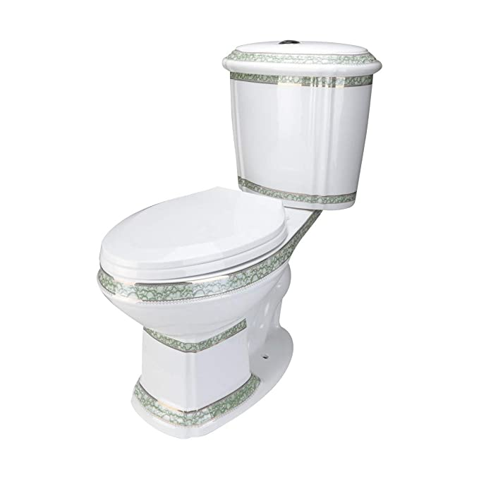 4. Renovator's Supply White and Green Porcelain