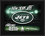 """New York Jets 10.5"""" x 13"""" Sublimated Horizontal Team Logo Plaque - NFL Team Plaques and Collages"""