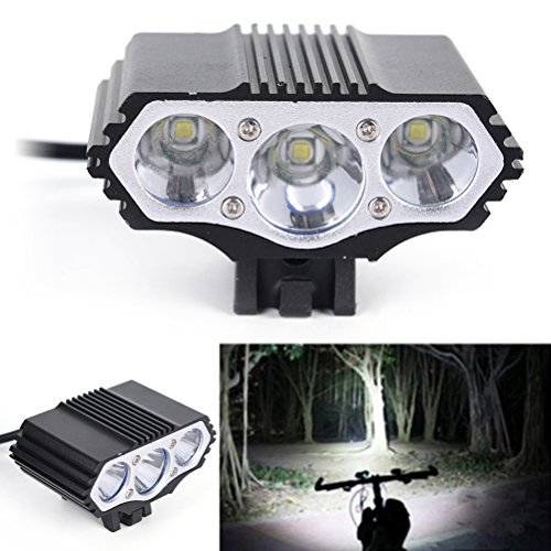 Ensunpal LED DC T6 Bicycle Light, 8500 Lm Rechargeable Major LED Mountain Fashion Car Lamp Headlamp for Riding, Camping,Outdoor and Other Activities