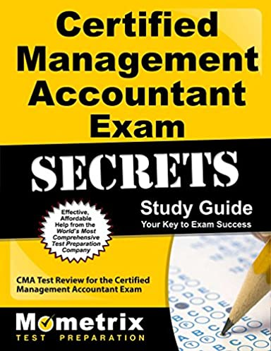 certified management accountant exam secrets study guide cma test rh amazon com certified management accountant exam secrets study guide pdf Certified Management Accountant Logo