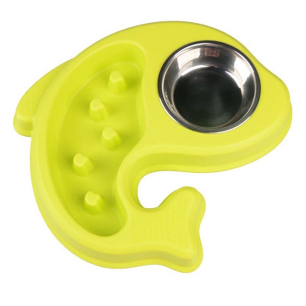 EBRICKON Anti Choke Dog Feeding Bowls Pet Food Water Bowl Puppy Slow Down Eating Feeder Dish Drinking Bowl Dogs Supplies (Green)