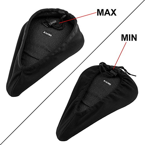 Zacro Gel Bike Seat Extra Soft Gel Bicycle Seat Bike Saddle Cushion with Water&Dust Resistant Cover