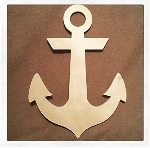 32 Inch Large wooden anchor. Anchor, nautical decor, wood anchors.]()