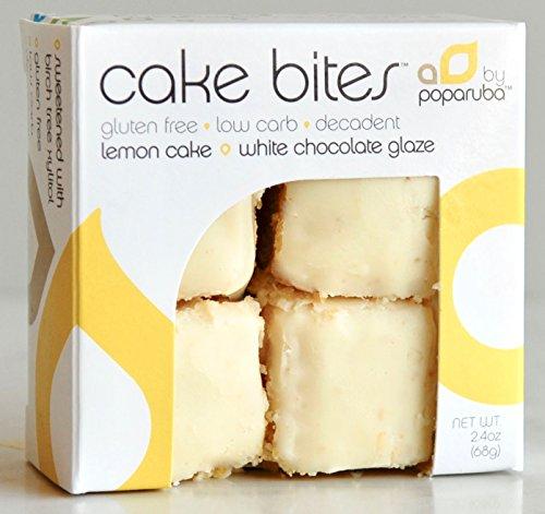 Poparuba Cake Bites - Lemon - 2.4 Oz (Case of 6 (Lemon Glaze Lemon Cake)