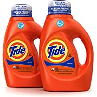 2 Count Tide Original Scent HE Turbo Clean Liquid Laundry Detergent