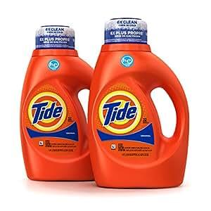 Tide Original Scent HE Turbo Clean Liquid Laundry Detergent, 50 Fl Oz (32 Loads), 2 Count