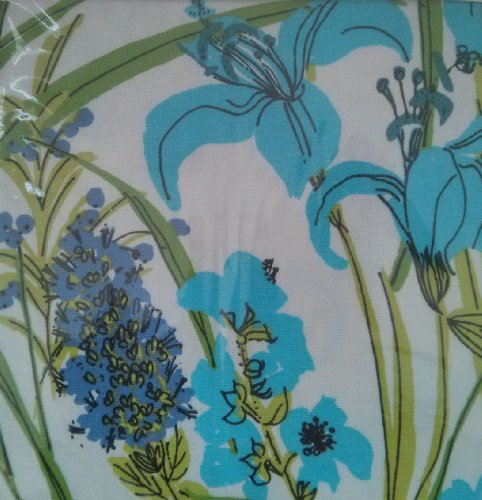(Vera Neumann Set of Four Cloth Napkins Lillies Blue)