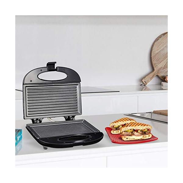 Prestige PGMFB 800 Watt Grill Sandwich Toaster with Fixed Grill Plates, Black 2021 June Fixed grill plates Non-stick heating plate Elegant black finish body