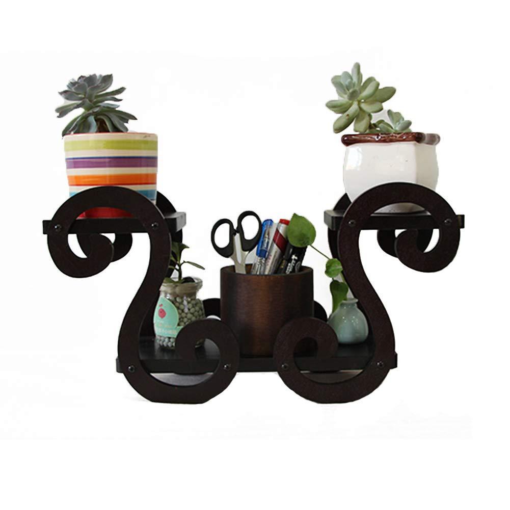 Portavasi Scaffali Porta Piante Succulente in Legno Massello Mini Rack per Ufficio Desktop da Casa Famiglia Multi-Strato Piccoli Oggetti Posizionati in Rack Tingting