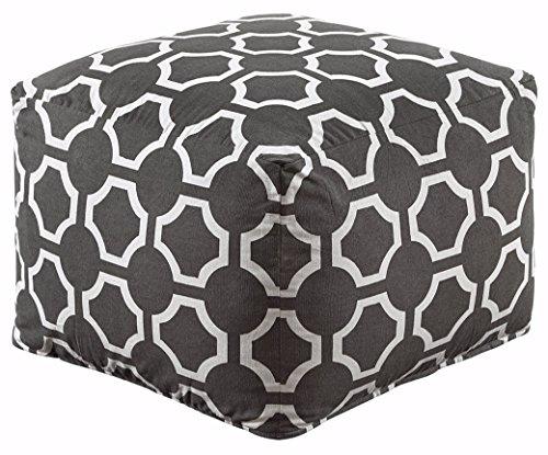 Ashley Furniture Signature Design   Geometric Pouf   Handmade   Imported   Traditional   Gray