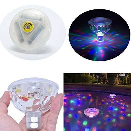 [MorningRising Pack Of 2 Water Light Bathtub Swim Pool Toys for Toddler Kids,Party Show Waterproof Floating LED Lamps] (Fun Lamp That Lights)