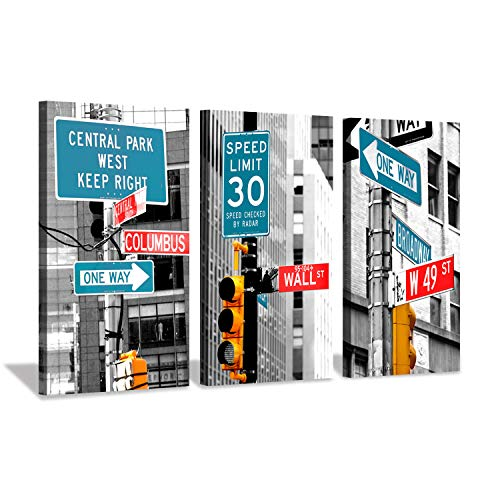(Hardy Gallery Cityscape Artwork Building Scene Picture: NYC Street Life Canvas Print for Wall)