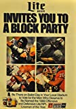 "1988 Vintage Miller Lite Magazine Ad - ""Lite Beer Invites You To Block Party"" offers"