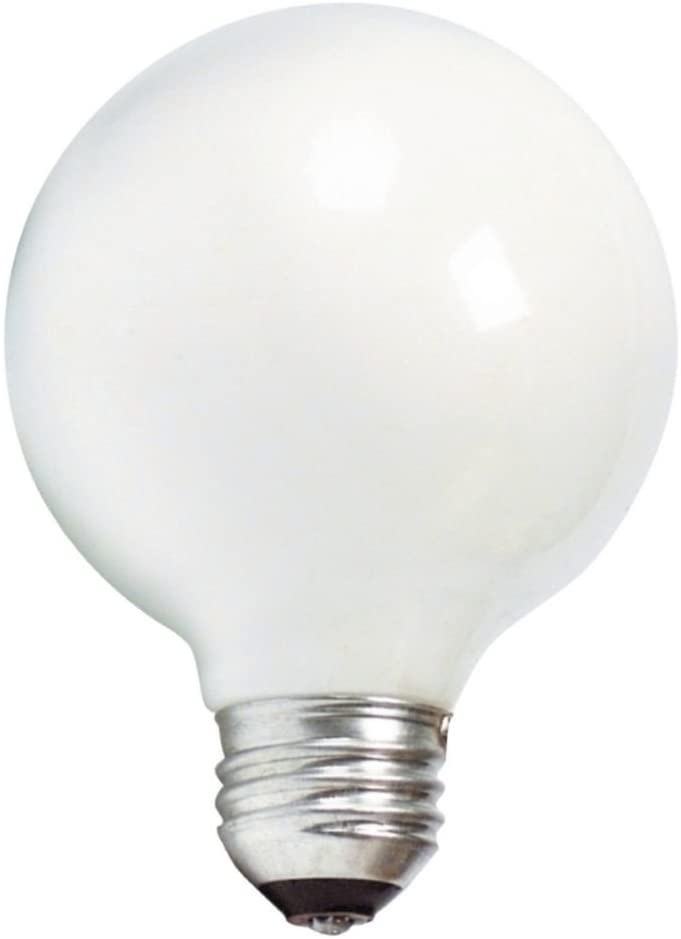 Philips 169045 40-watt G25 White Decorative Medium BaseGlobe Light Bulb, 3-Pack
