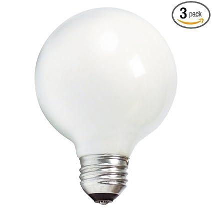 Philips 169045 40 Watt G25 White Decorative Medium Base Globe Light Bulb 3 Pack Incandescent Bulbs Amazon Com