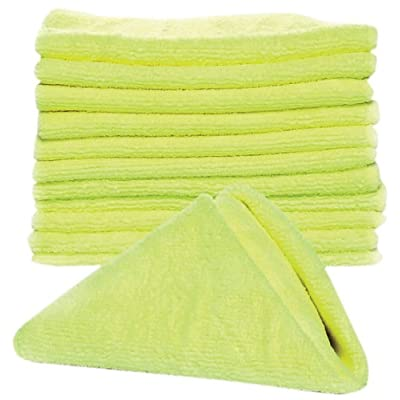 "Camco Microfiber Cleaning Cloth for Auto Detailing and More - Soft and Non- Abrasive Texture| Lint and Streak Free | Great for Cleaning RVs, Boats, Cars & Trucks| 13 ¾"" x 13 - 12 Pack (43572): Automotive"
