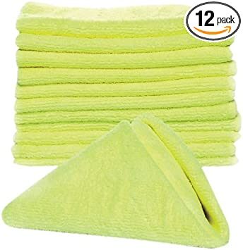 Boats Soft and Non- Abrasive Texture  Lint and Streak Free Cars /& Trucks  13 /¾ x 13-12 Pack Great for Cleaning RVs Camco  Microfiber Cleaning Cloth for Auto Detailing and More 43572