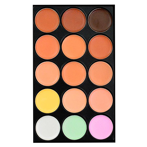 15 Color Concealer Makeup Palette Professional Camouflage Palette by HOVEOX