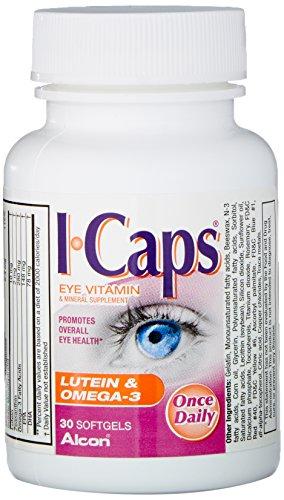 ICAPS lutéine et Omega-3 Eye vitamines et minéraux, 30 gélules
