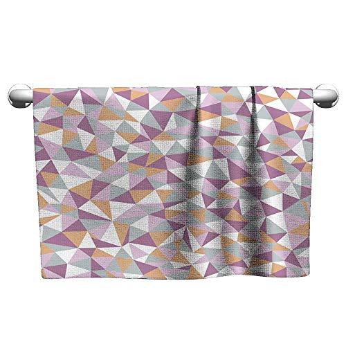 (Tankcsard Custom Towel Seamless Texture with Triangles Mosaic Endless Pattern,Towel bar for Glass Shower Door)