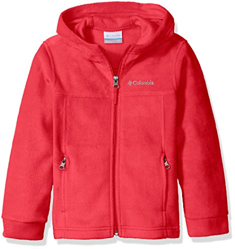 Columbia Big Boys' Steens II Fleece Hoodie, Mountain Red, (Boys Hooded Fleece Jacket)