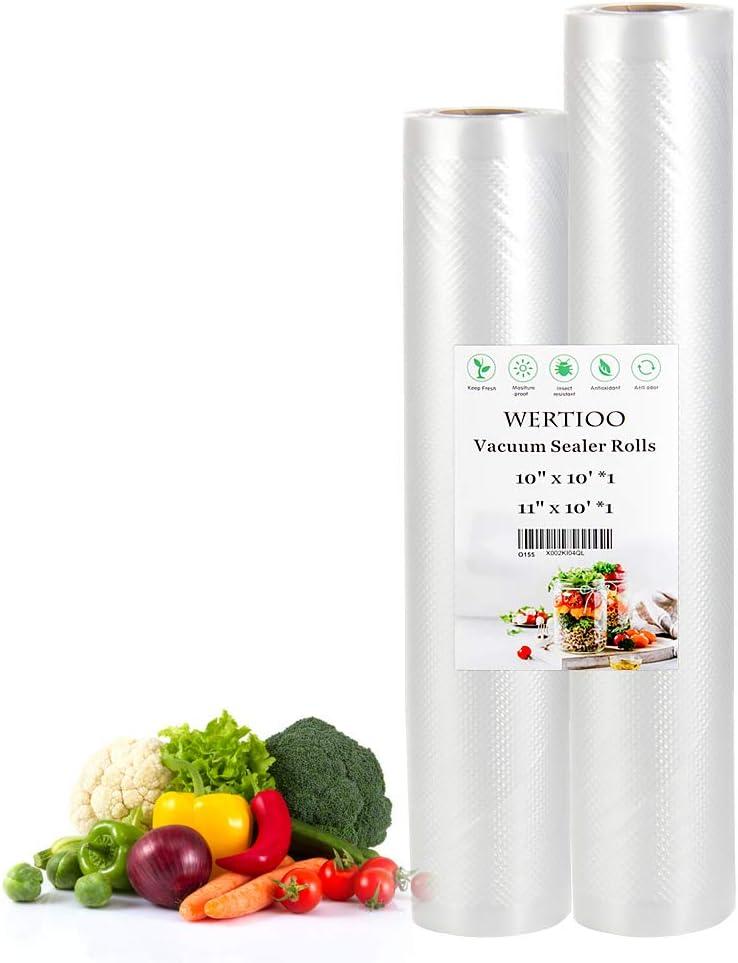WERTIOO Vacuum Sealer Bags for Food,2 Roll 10
