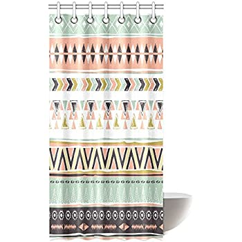 68af28b27a Amazon.com: Ambesonne Native American Shower Curtain, Geometric ...